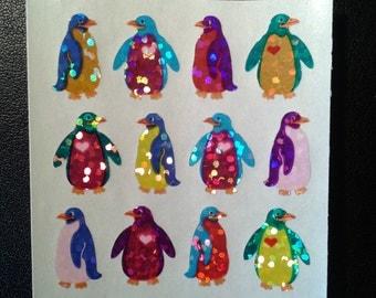 Sandylion Stickers Rainbow Glittery Mini Penguin, Penguins  (1 mod)