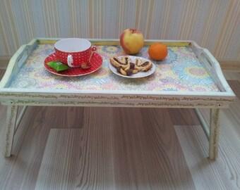 Breakfast Serving Tray, Handmade