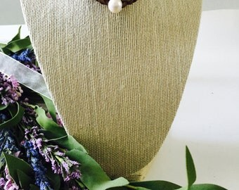Beautiful White Fresh Water Pearl Bohemian Necklace