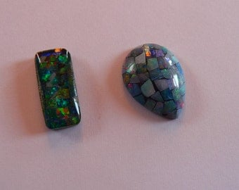 Two beautiful mosaic Opals