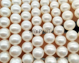 AAAA+ 8-9mm diy best quality pearls,pearl strand,loose pearls,pearl necklace,loose beads,white round freshwater pearls,YSNRD-4A-8-RD-100-1