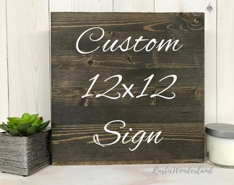 Custom Sign // Design your own // Home Decor // Rustic Decor // Wood Sign // Personalized Wedding Gift