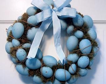 Blue Easter Egg Wreath