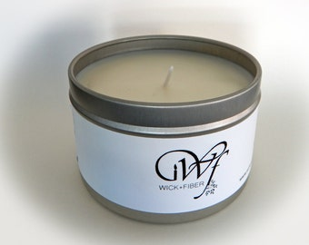8 oz tin can White Tea and Berries soy candle