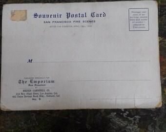 1906 San Francisco Earthquake/Fire Souvenir Postcard