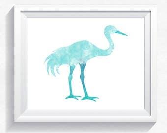 80%OFF Crane print, blue crane, watercolor print, watercolor crane, watercolor painting, crane wall art, crane painting, crane printable