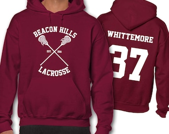 Whittemore 37 Teen Wolf Lacrosse Hoodie Adult Hoodies Beacon Hills Unisex Men's Gift Present