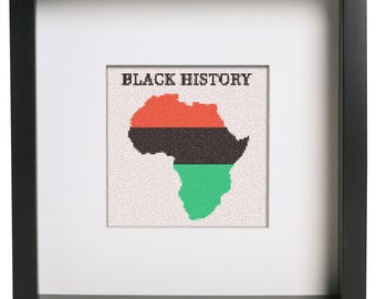 Black History Month Africa Cross Stitch Pattern
