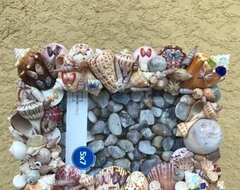 Seashell and Beachglass Frame