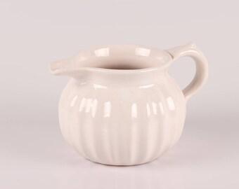 L. Hjort - Small White Pitcher - Danish Design