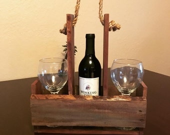 WIne Holder Rustic Southern Style