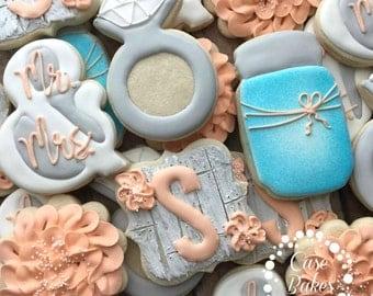 Rustic Wedding Cookies - 1 dozen
