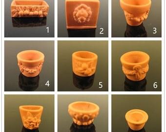 Miniature dolls house terracotta pot-1pc