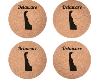 Delaware Set 4pc Coaster Set Cork Home Bedroom Bar