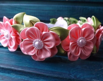 spring kanzasi flower handband