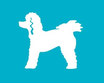 Poodle Car Decal
