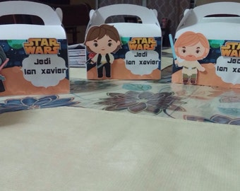 Star wars candy boxes birthday