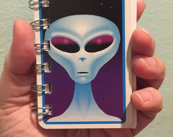Alien Friend playing card notebook #243