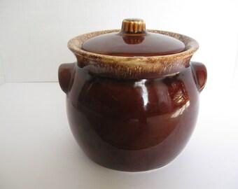 Hull Bean Pot Vintage ceramic Oven Proof USA Signed Hull Kitchen and Dining Karen Snider
