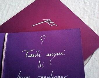 greetings card handmade and hand written