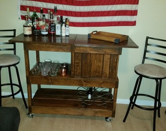 Bar Cart with Built-in Cooler