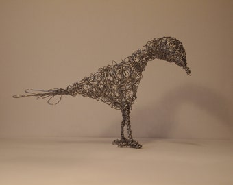 Hand made Wire Bird Sculpture