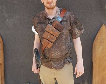 Leather Bandolier and Pouches