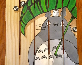 Totoro Picket Fence Painting