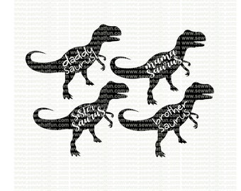 Family Dinosaur SVG, cutting file, vinyl file, svg, dinosaur, svg file cameo file, cricut, family, dinosaur svg, download, brother saurus