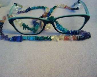 Chakra Gemstone Beaded Eyeglass Lanyard