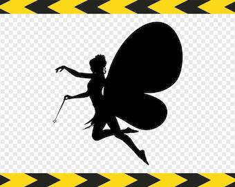 Fairy Svg Silhouette Clipart Scrapbook Cut files for Cricut Silhouette Dxf Pdf Png