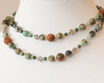 Mountain Meadow: gemstone and sterling silver necklace