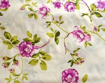 Half metre (50cm) rose fabric, floral fabric, flower fabric, english rose fabric, purple rose fabric