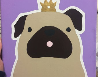 Pug Crown Canvas