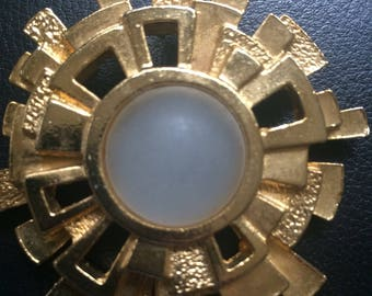 PACO RABANNE vintage large abstract sun pin Haute Couture