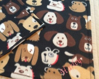Fun Soft Personalized Dog Fleece Blankets Woof!