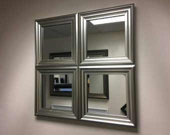 "EXCLUSIVE""The Hornby"" Silver Wall Mirror 62 X 62 CM"