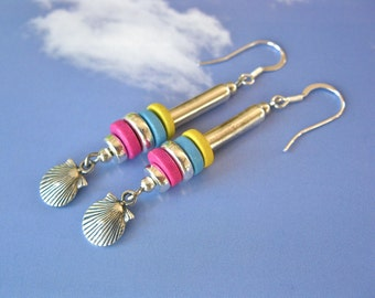 Camino de Santiago earrings with scallop shell of St James