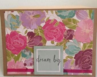 Encouraging greeting card handmade w/ envelope