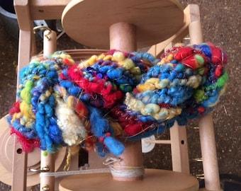 "Handspun Art Yarn ""Pile-of-Color"""
