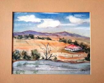 Watercolor Australian Landscape