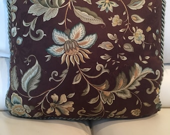 Beautiful New Decorator Accent Pillow. Brown, Sage