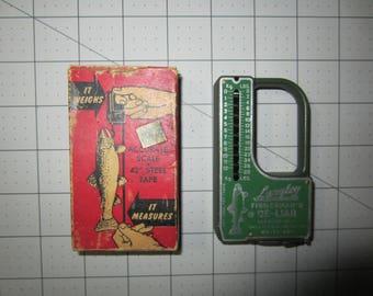 Langley Fisherman's De-Liar, Pocket scale, Fisherman's Accessory, Fish Scale,Vintage Fishing Scale,Fishing Accessory,Fish Measure,Fish Scale