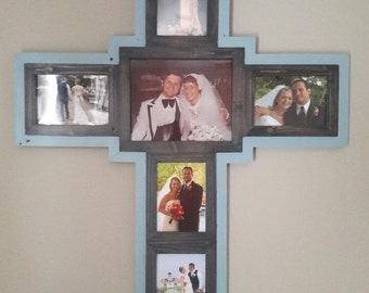 Wooden Cross Picture Frame