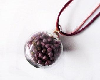 Bubble Heather Nature pendant