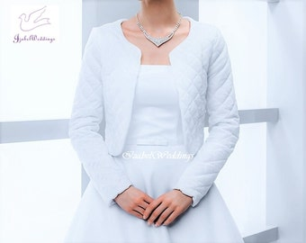 Bridal jacket warm long sleeves