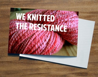 We Knitted The Resistance | Women's March Postcard