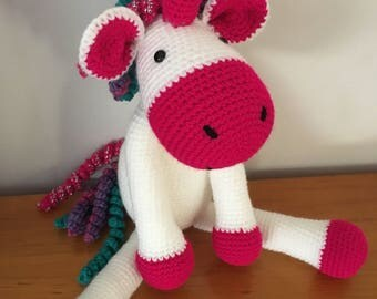 Crochet unicorn, amigurumi unicorn, plush unicorn toy,unicorn,babyshower, nursery decor, toy unicorn
