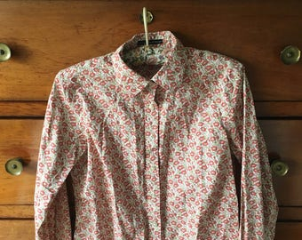 Flower vintage shirt 80's 90's size small S