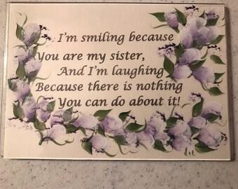 Humorous Acrylic Magnet .